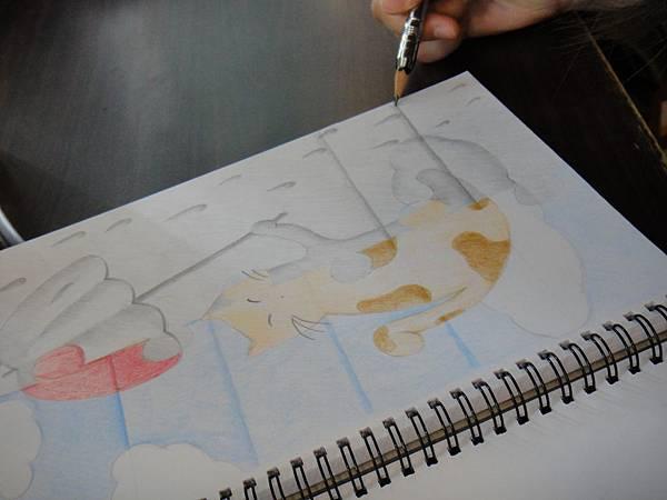 》學生色鉛、鉛筆黑白彩色對比畫創作(4)
