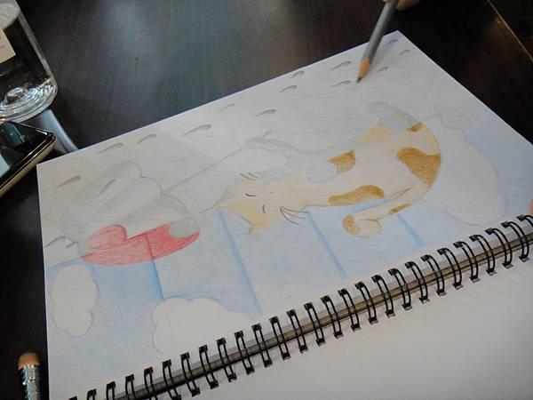 》學生色鉛、鉛筆黑白彩色對比畫創作(2)