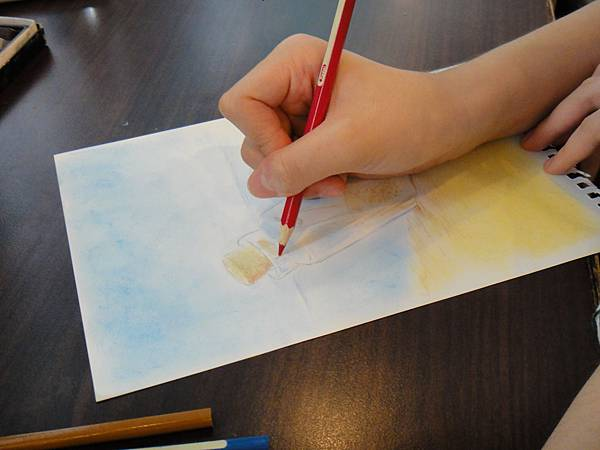 》學生粉彩+色鉛玻璃質感練習_瓶中信(5)