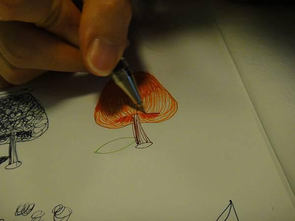 》學生鋼珠筆光影上色練習(3)