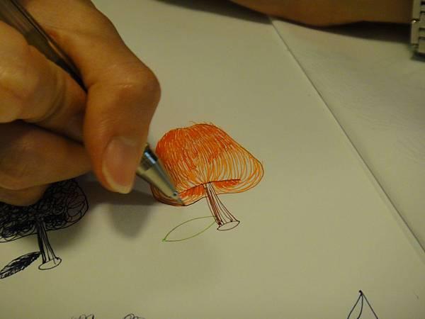 》學生鋼珠筆光影上色練習(4)