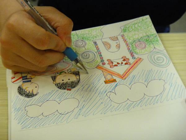 》學生鋼珠筆全畫構成練習(9)