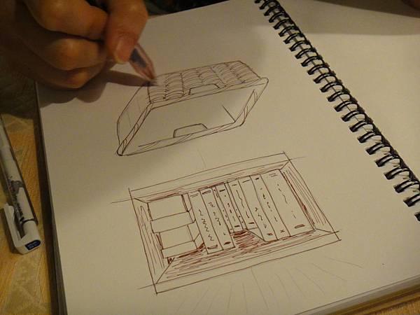 》學生物品家具立體畫練習(2)