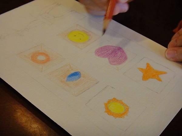 》學生色鉛刷水+鋼珠筆全景畫面練習(3)