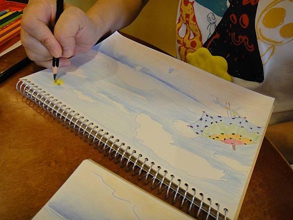 》學生色鉛+鋼珠筆全景畫面練習(5)