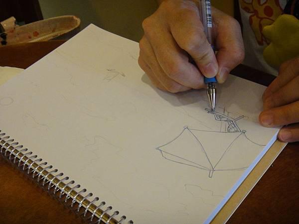 》學生色鉛+鋼珠筆全景畫面練習(1)
