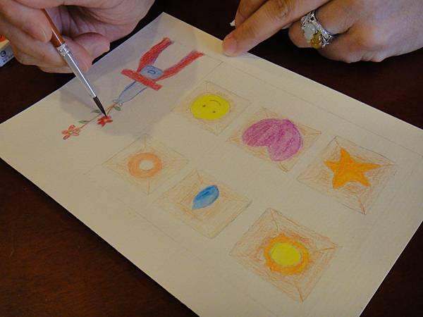》學生色鉛刷水+鋼珠筆全景畫面練習(5)