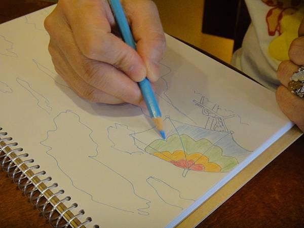》學生色鉛+鋼珠筆全景畫面練習(3)