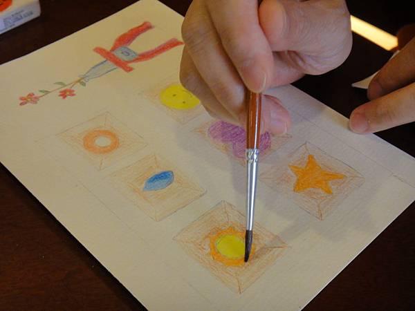 》學生色鉛刷水+鋼珠筆全景畫面練習(4)