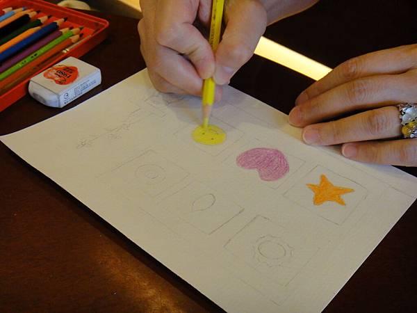 》學生色鉛刷水+鋼珠筆全景畫面練習(1)