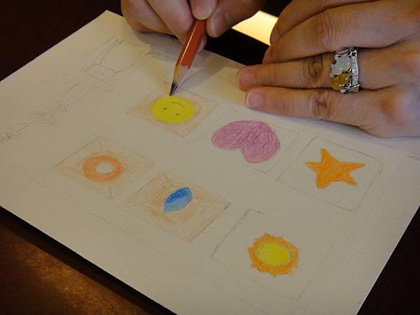 》學生色鉛刷水+鋼珠筆全景畫面練習(2)