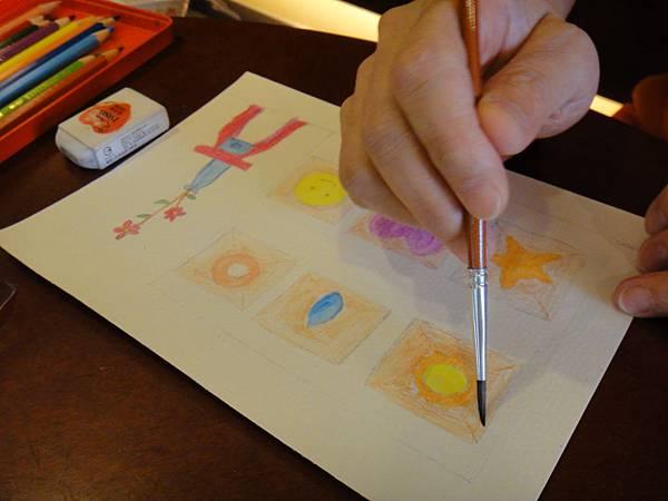 》學生色鉛刷水+鋼珠筆全景畫面練習(6)