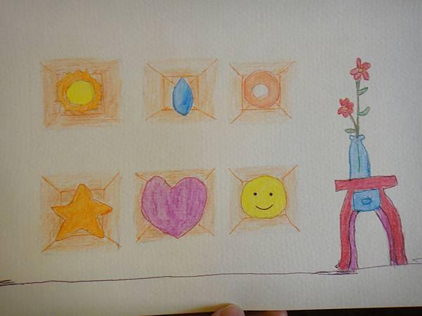 》學生色鉛刷水+鋼珠筆全景畫面練習(8)