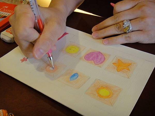 》學生色鉛刷水+鋼珠筆全景畫面練習(7)