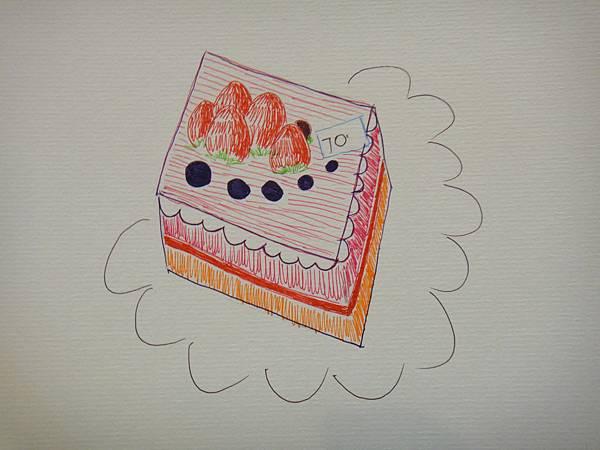 》學生鋼珠筆甜品畫練習(7)