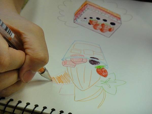 》學生鋼珠筆甜品畫練習(9)