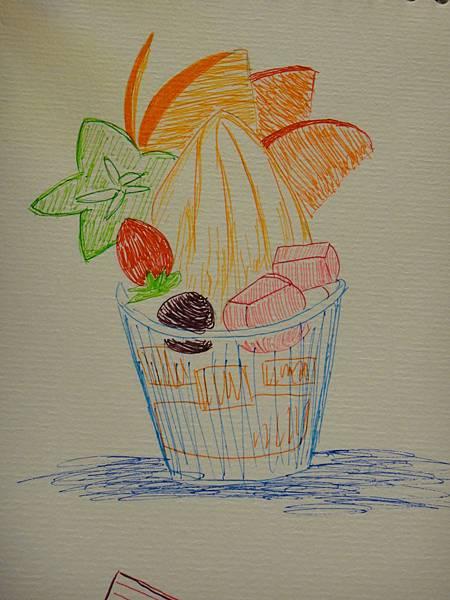 》學生鋼珠筆甜品畫練習(11)