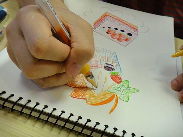 》學生鋼珠筆甜品畫練習(10)