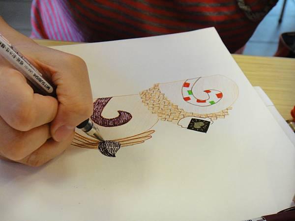 》學生鋼珠筆甜品畫練習(3)