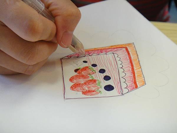 》學生鋼珠筆甜品畫練習(6)