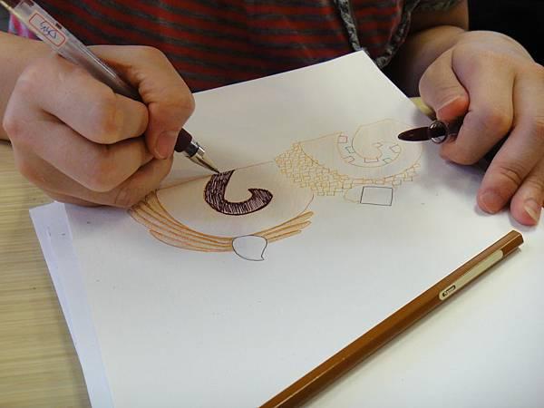 》學生鋼珠筆甜品畫練習(1)