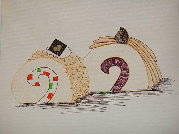 》學生鋼珠筆甜品畫練習(4)