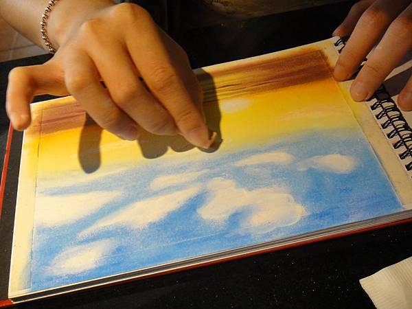 》學生粉彩風景畫練習(3)