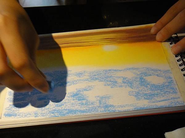 》學生粉彩風景畫練習(1)
