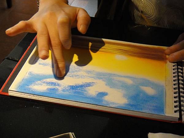 》學生粉彩風景畫練習(2)