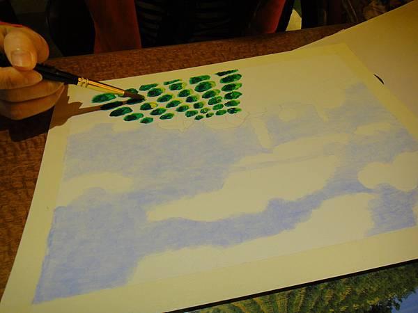 》學生壓克力風景畫練習(2)