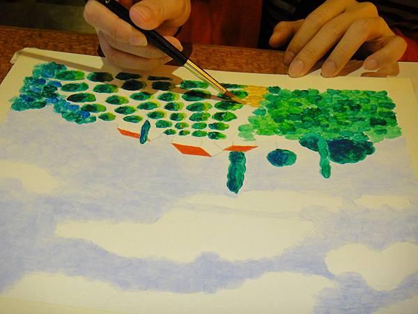 》學生壓克力風景畫練習(6)