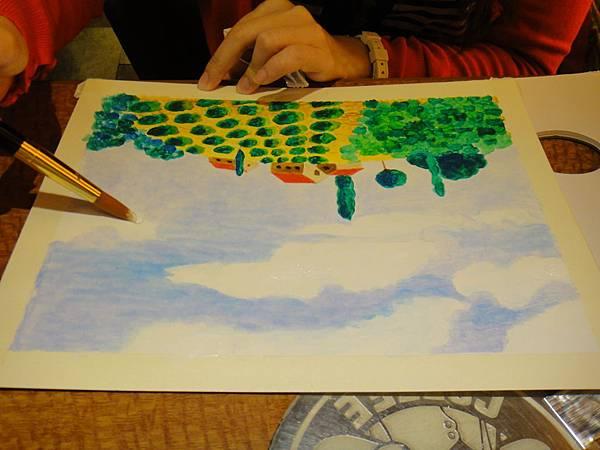 》學生壓克力風景畫練習(11)