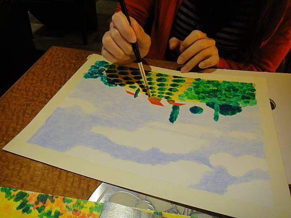 》學生壓克力風景畫練習(8)