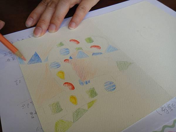 》學生生日卡片繪製過程(4)