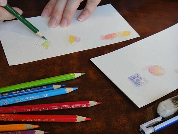 》學生色鉛上色刷水技法練習(2)