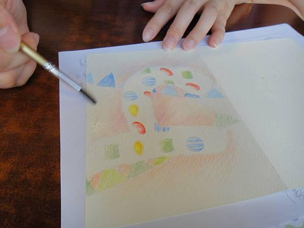 》學生生日卡片繪製過程(6)