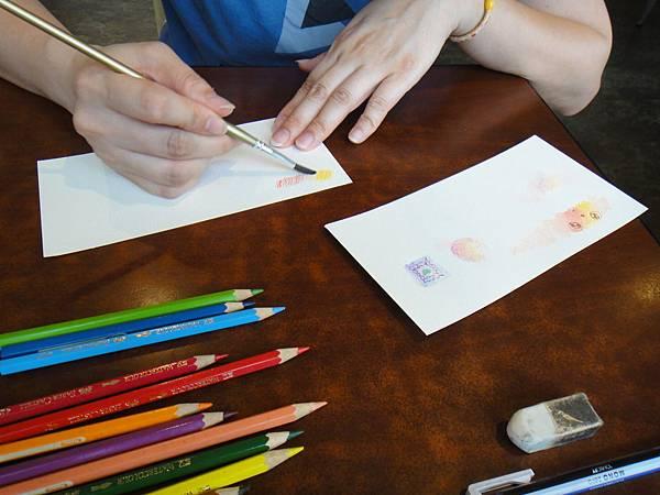 》學生色鉛上色刷水技法練習(1)