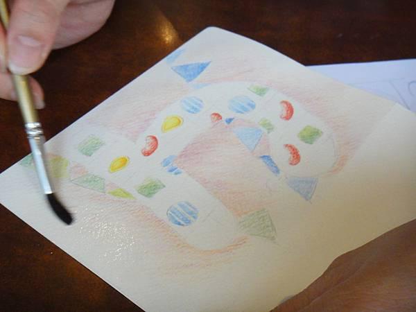 》學生生日卡片繪製過程(7)