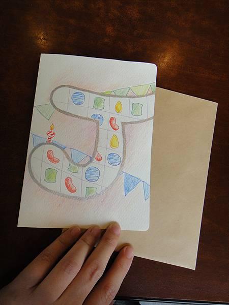 》學生生日卡片繪製過程(成品2)