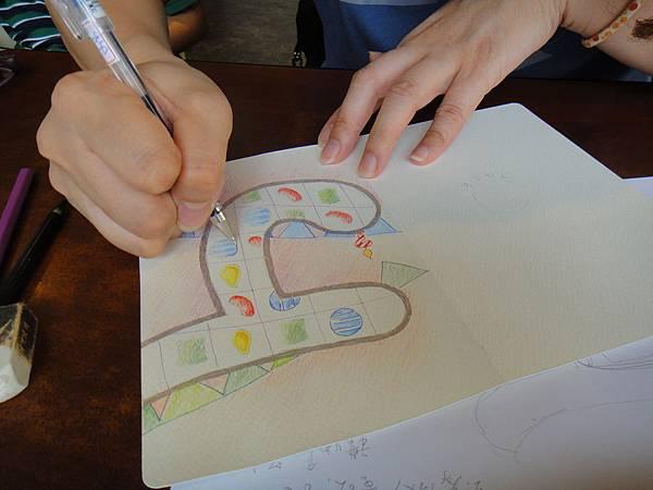 》學生生日卡片繪製過程(11)