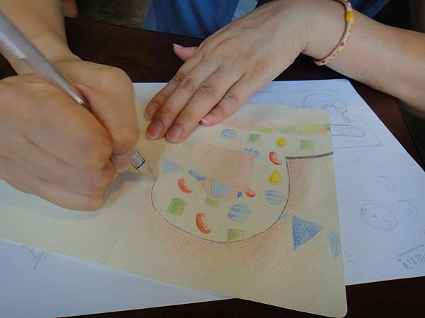 》學生生日卡片繪製過程(8)