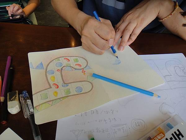 》學生生日卡片繪製過程(12)