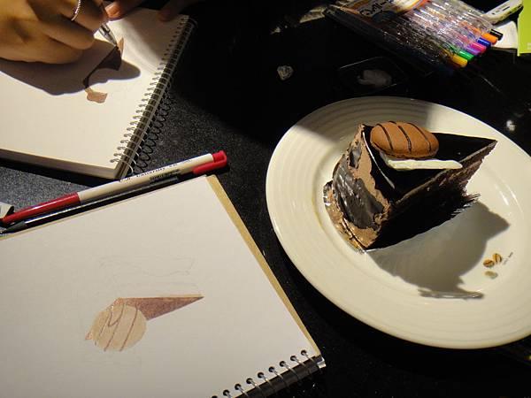 》學生原子筆蛋糕畫練習(1)