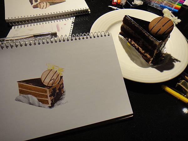 ※原子筆蛋糕畫示範圖