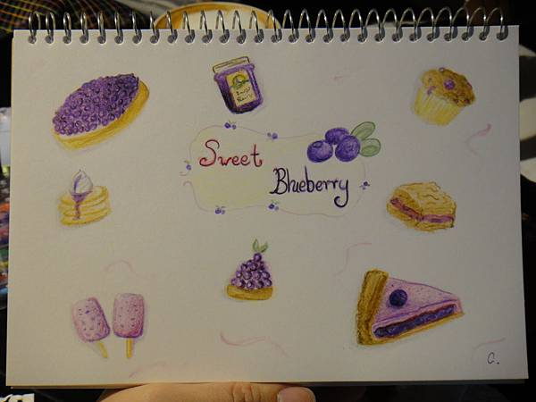 》學生色鉛甜點畫作業