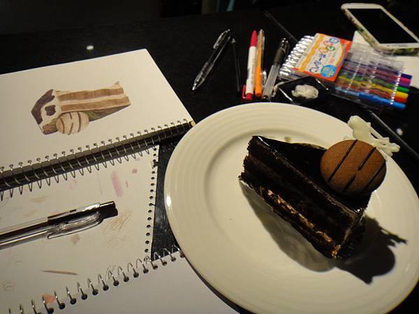 》學生原子筆蛋糕畫練習(4)