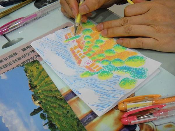 》學生鋼珠筆塗抹風景畫練習(10)