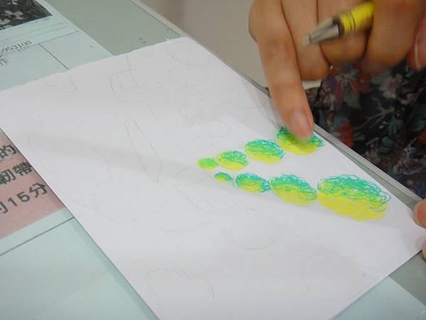 》學生鋼珠筆塗抹風景畫練習(2)