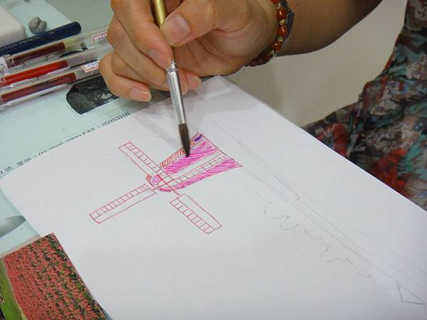 》學生鋼珠筆刷水風景畫練習(1)