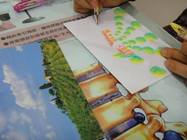 》學生鋼珠筆塗抹風景畫練習(6)